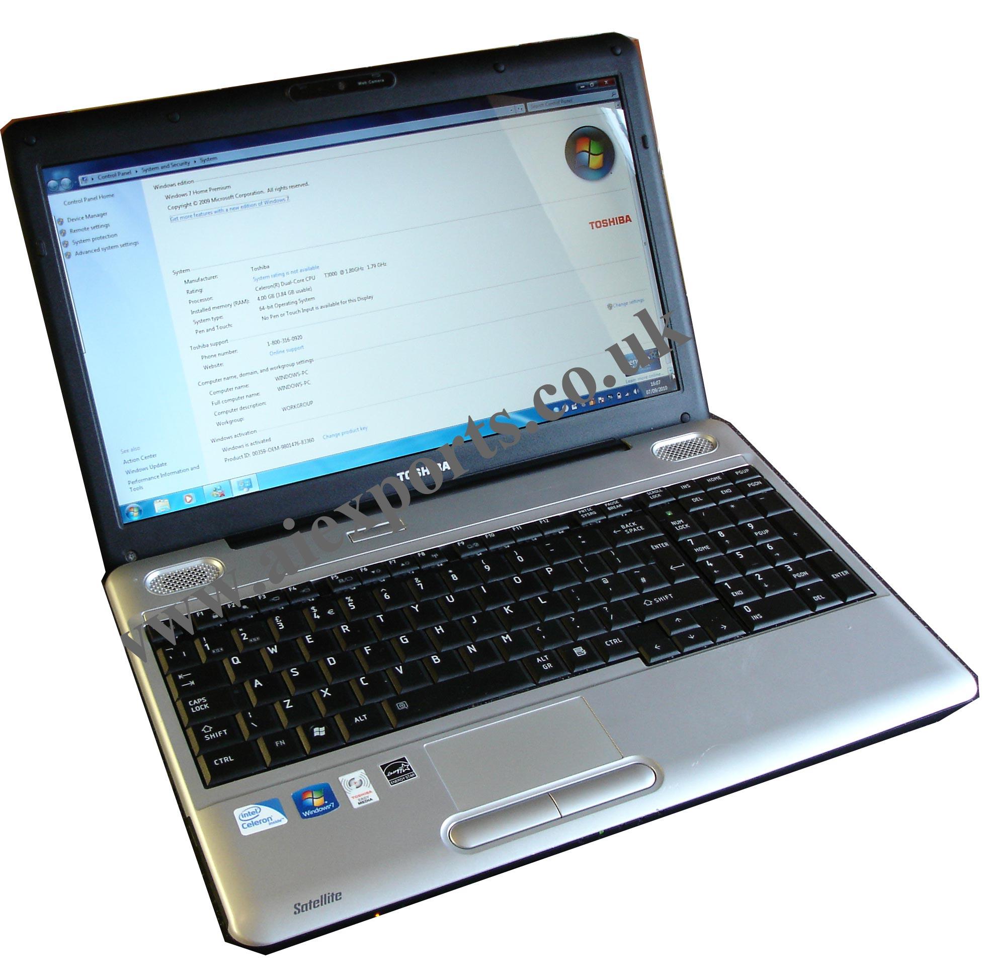 Toshiba Satellit L500 4GB Hard Drive 320GB Ram Webcam